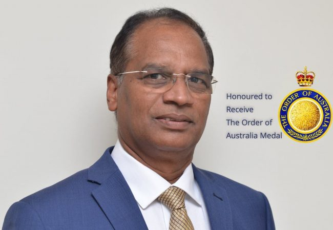 Dr. Krishna Nadimpalli - Honoured to receive The Order of Australia Medal
