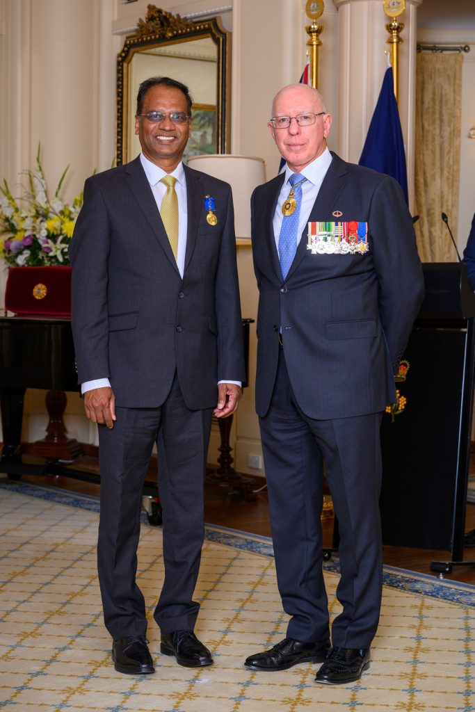 Received the Order of Australia (OAM) from Governer General