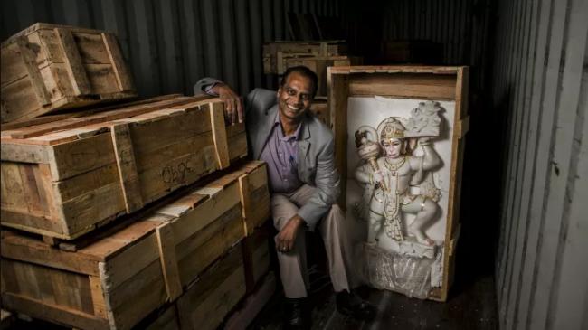Krishna with Mandir Idols