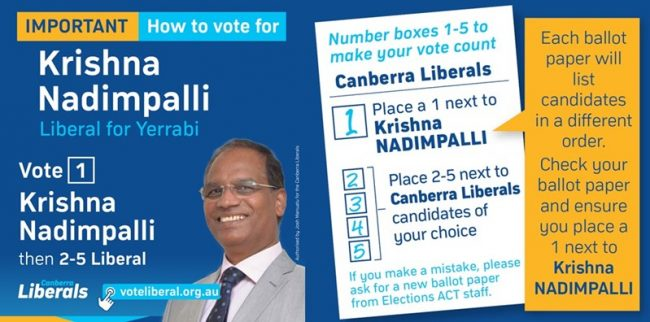 Vote 1 ACT 2020 Election